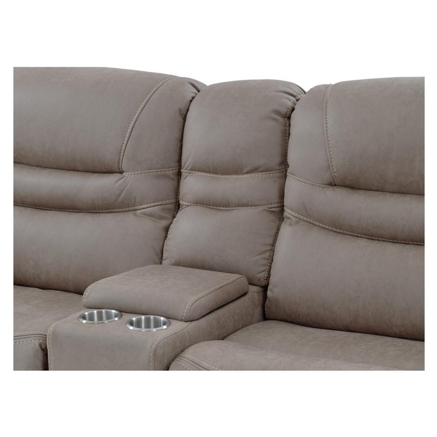Dan Light Gray Power Motion Sofa w/Right & Left Recliners  alternate image, 4 of 9 images.