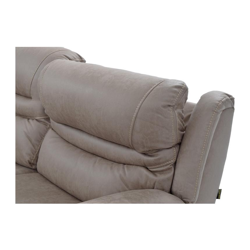 Dan Light Gray Power Motion Sofa w/Right & Left Recliners  alternate image, 9 of 9 images.