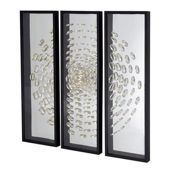 Golden Swirl Set of 3 Shadow Boxes