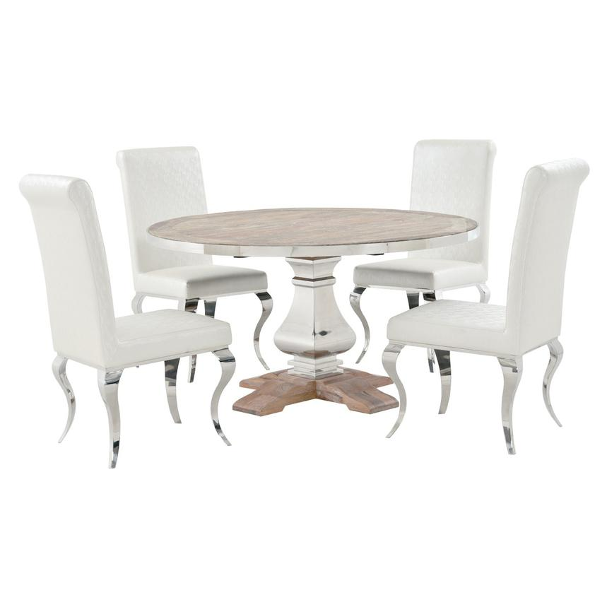 Wilma/Lizbon 5-Piece Dining Set  main image, 1 of 12 images.