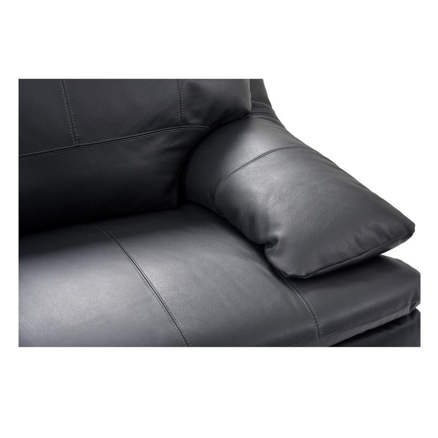 Rio Dark Gray Leather Corner Sofa w/Left Chaise  alternate image, 5 of 8 images.