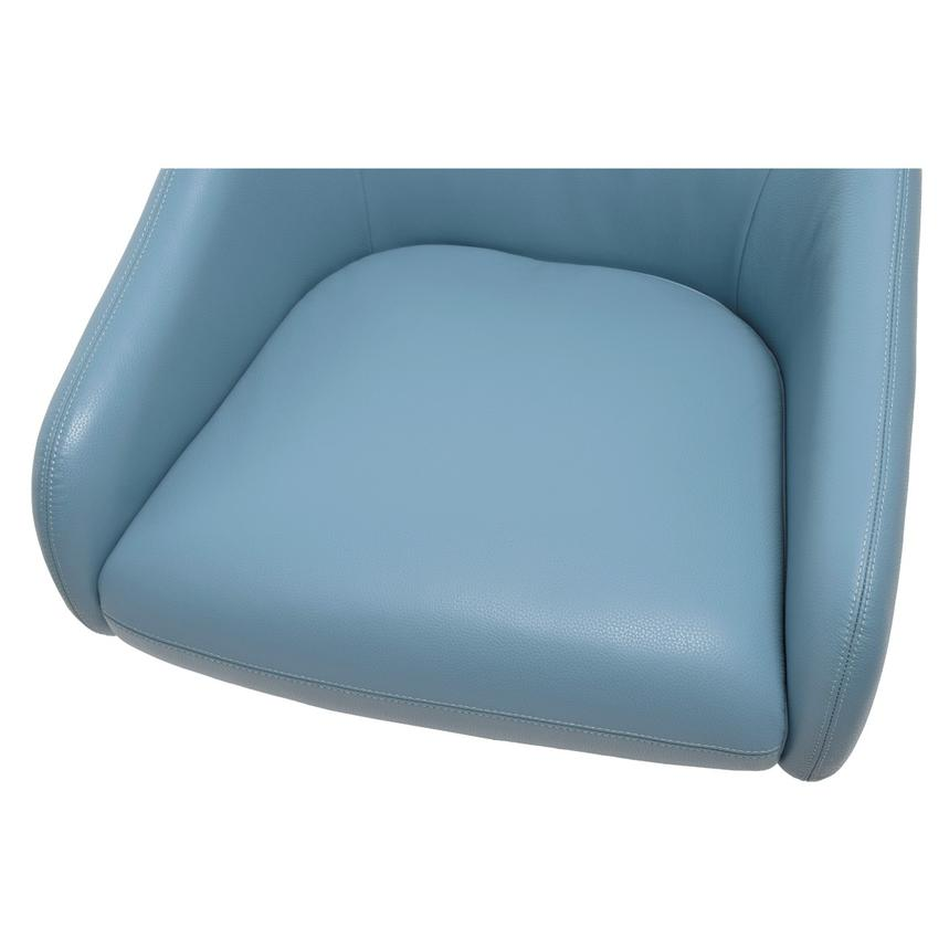 Brookville Blue Leather Swivel Chair  alternate image, 5 of 6 images.