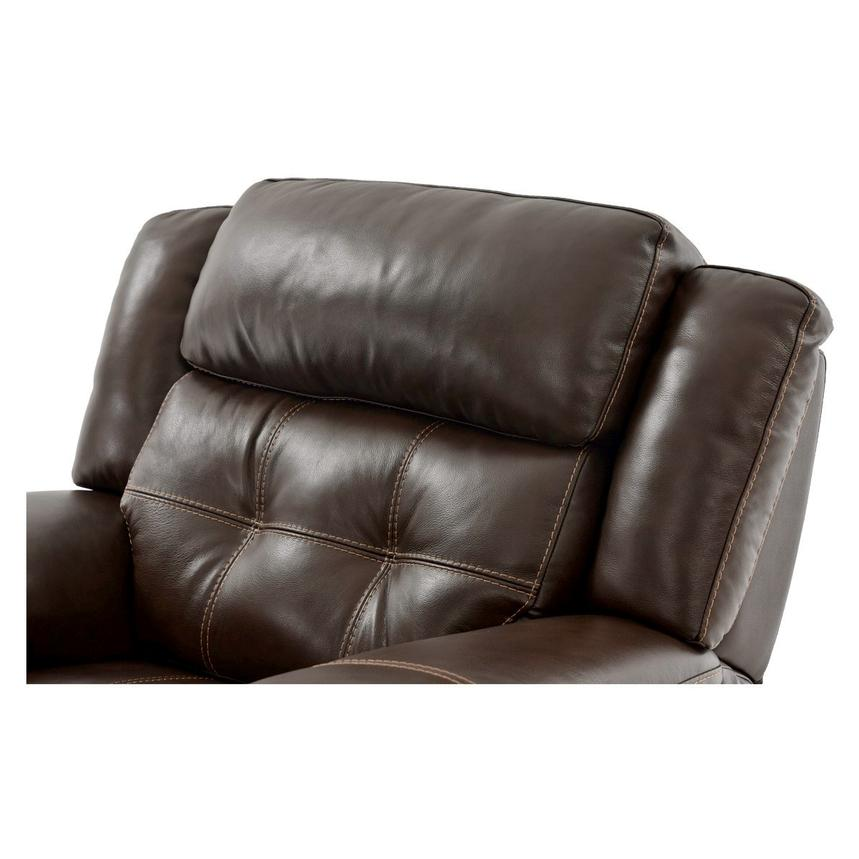 Stallion Brown Power Motion Leather Recliner  alternate image, 5 of 8 images.