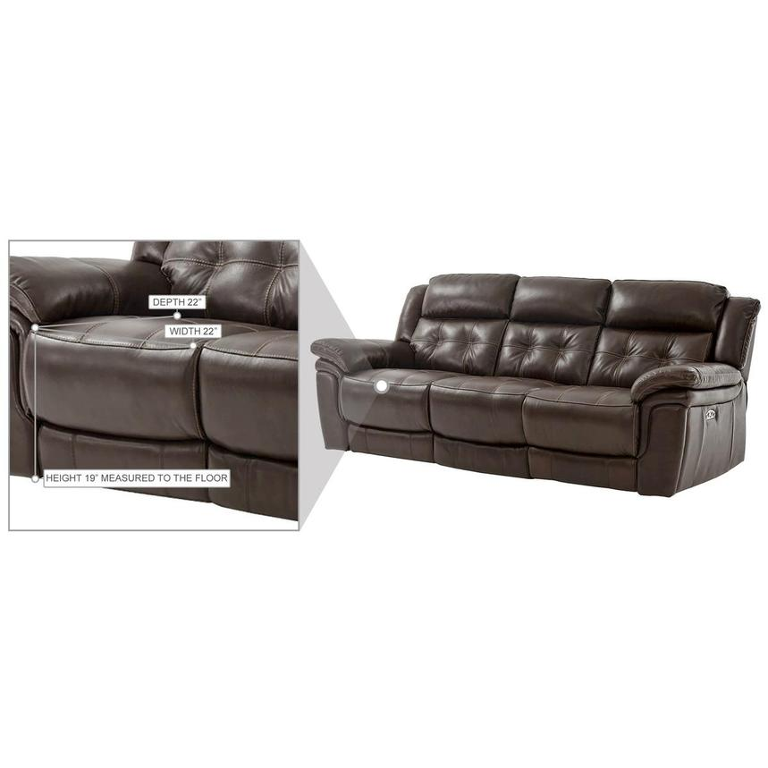 Stallion Brown Leather Power Reclining Sofa  alternate image, 9 of 9 images.