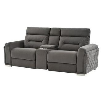 Kim Gray Power Reclining Sofa w/Console