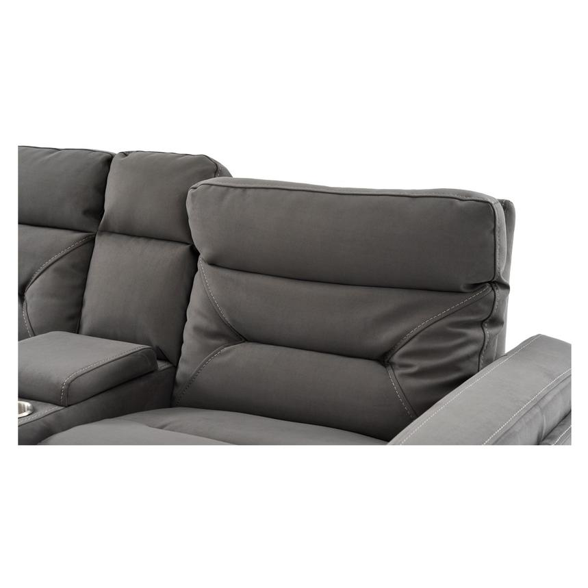 Kim Gray Power Reclining Sofa w/Console  alternate image, 10 of 14 images.