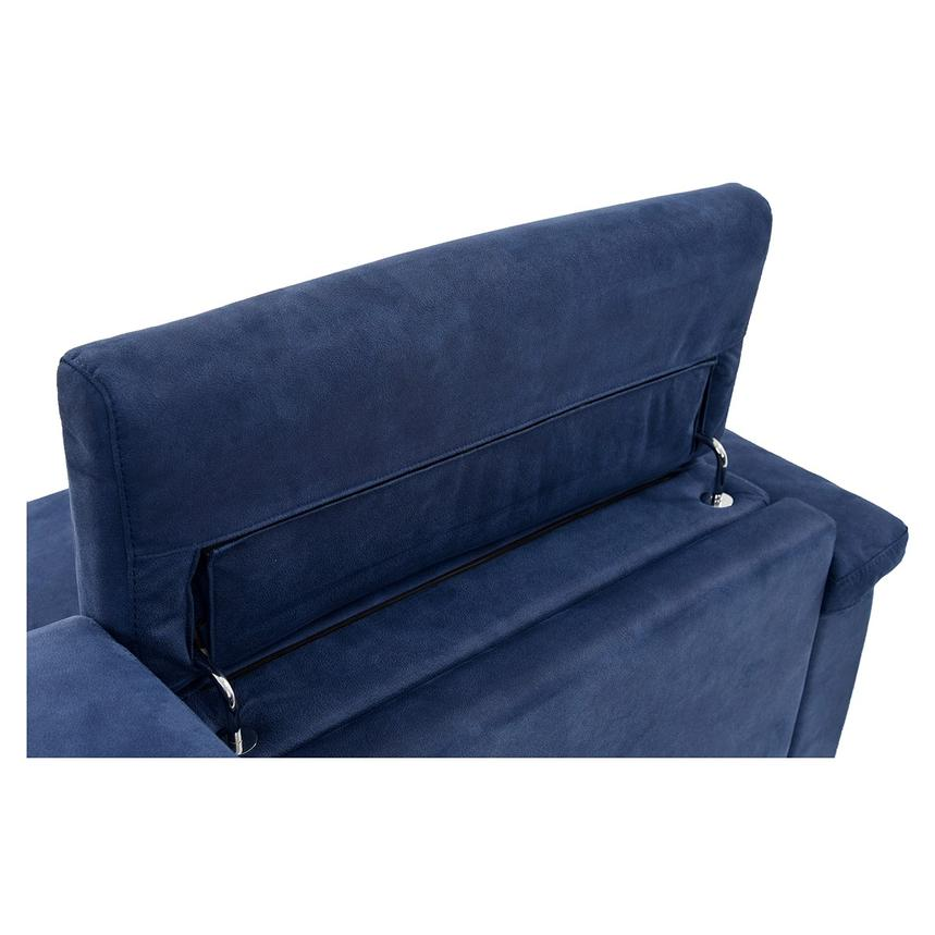 Kathan Blue Power Motion Sofa w/Right & Left Recliners  alternate image, 10 of 12 images.