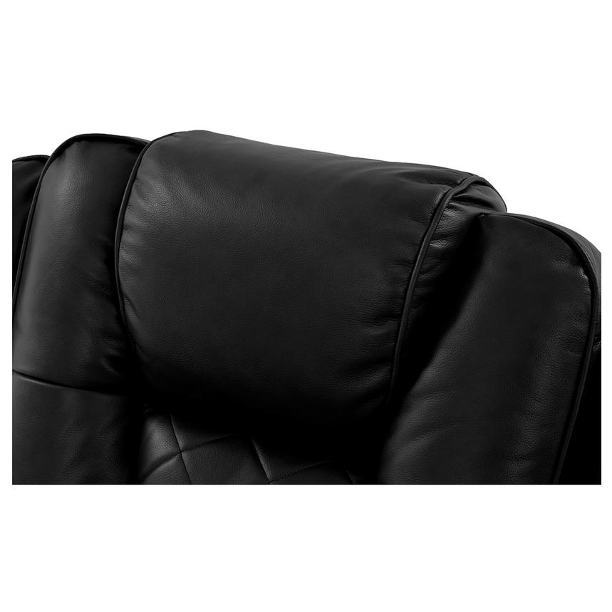 Chanel Black Power Motion Sofa w/Console  alternate image, 10 of 12 images.