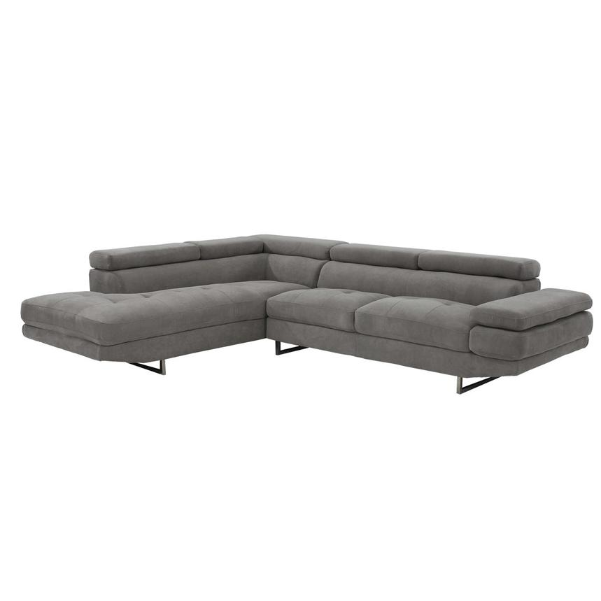 Taheri Gray Corner Sofa w/Left Chaise  main image, 1 of 8 images.