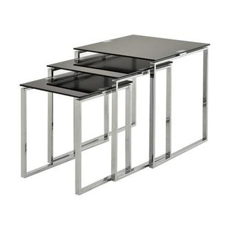 Katrine Black Nesting Tables Set of 3
