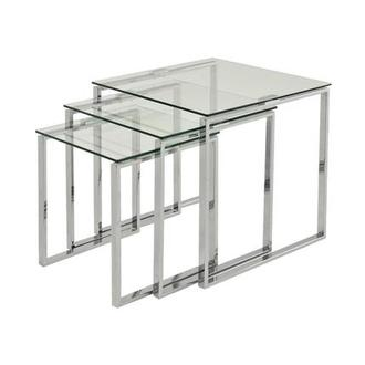 Katrine Clear Nesting Tables Set of 3