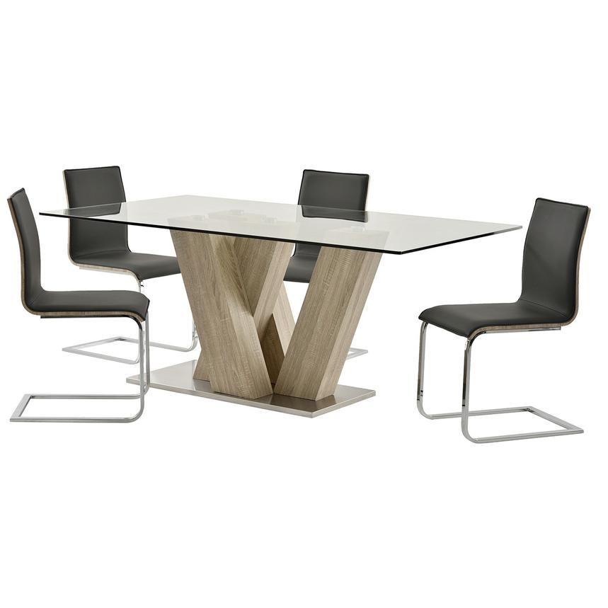 Solimar Gray 5-Piece Dining Set  main image, 1 of 10 images.