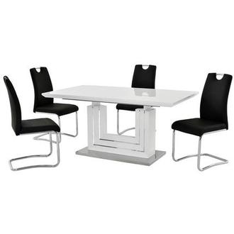 Lila Black 5-Piece Dining Set