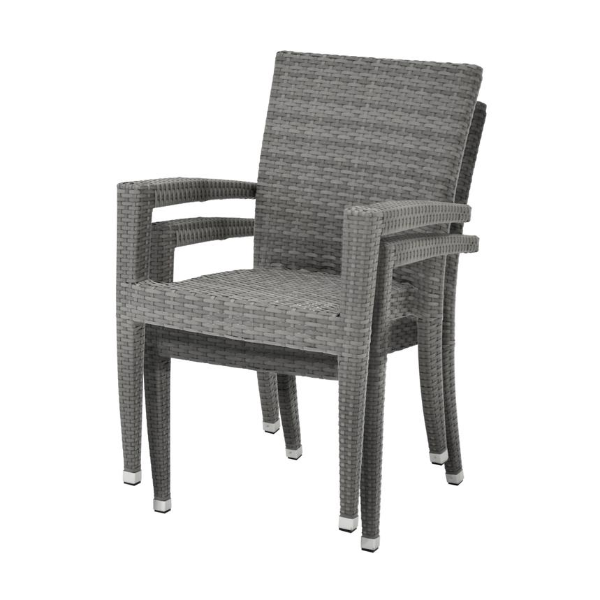 Neilina Gray 3-Piece Patio Set  alternate image, 9 of 9 images.