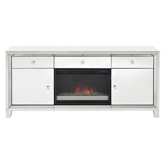 Amia White Faux Fireplace w/Remote Control