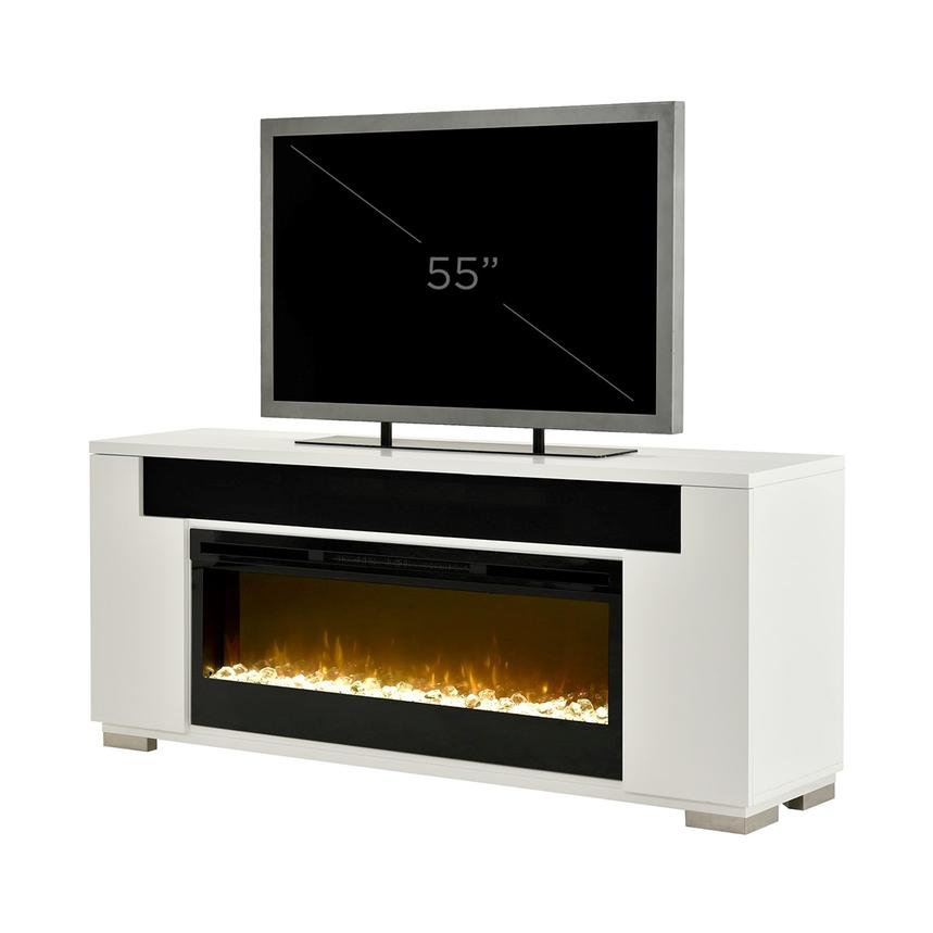 Mile White Electric Fireplace w/Speakers  alternate image, 14 of 14 images.
