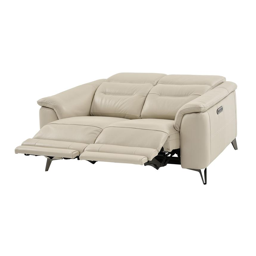 Anabel Cream Power Motion Leather Loveseat  alternate image, 2 of 11 images.