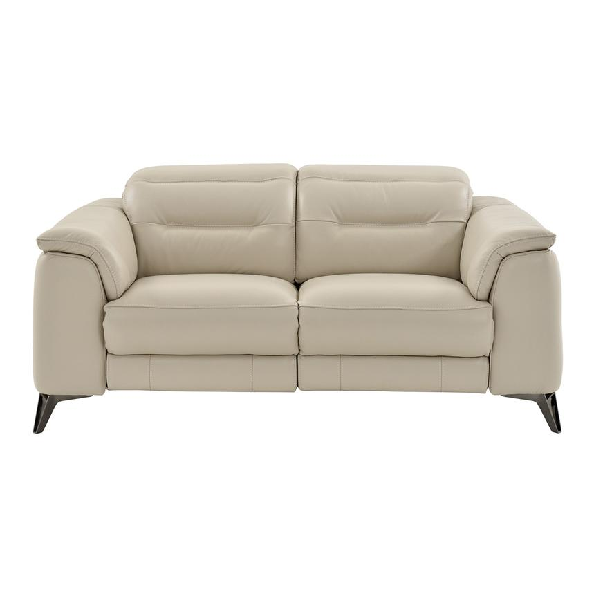 Anabel Cream Leather Power Reclining Loveseat  alternate image, 5 of 15 images.