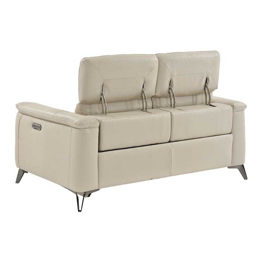 Anabel Cream Leather Power Reclining Loveseat  alternate image, 4 of 11 images.