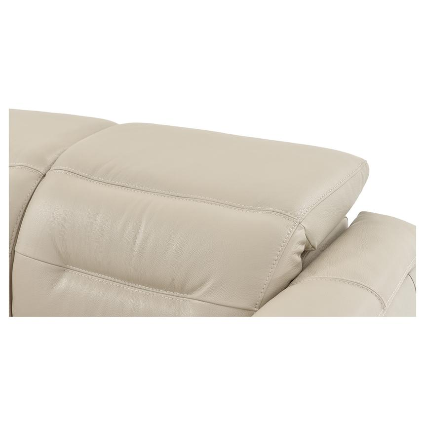 Anabel Cream Power Motion Leather Loveseat  alternate image, 7 of 11 images.