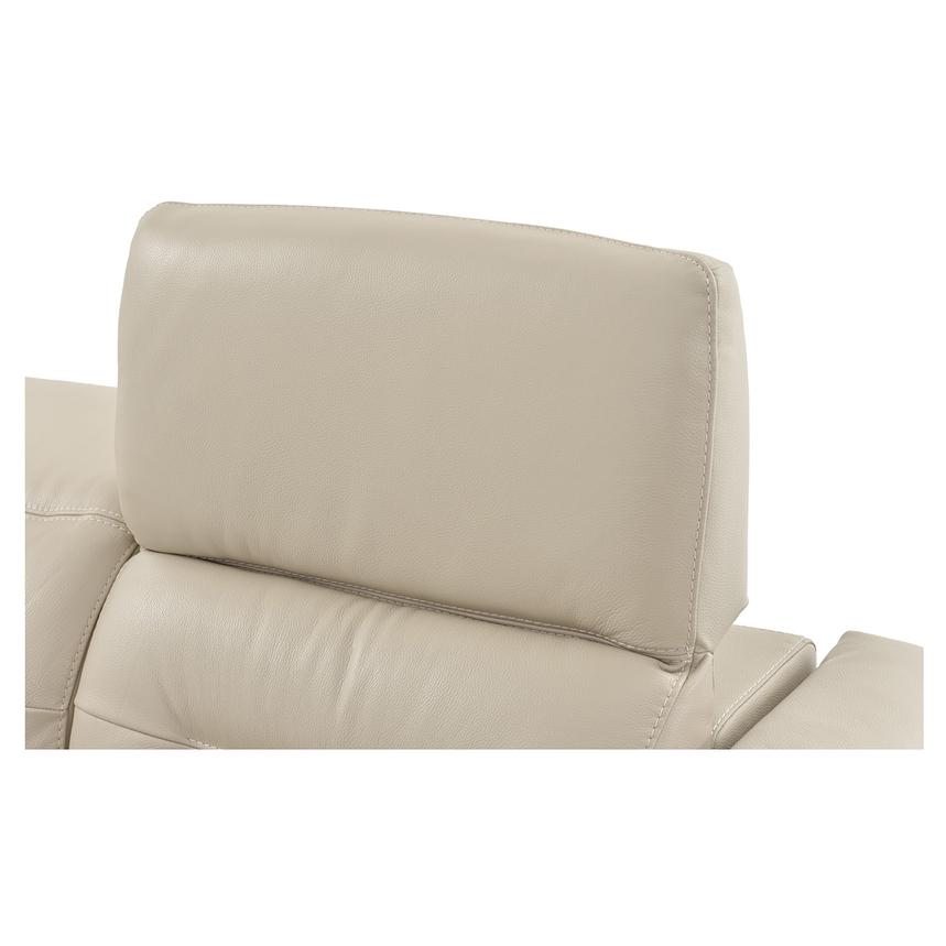 Anabel Cream Leather Power Reclining Loveseat  alternate image, 10 of 15 images.