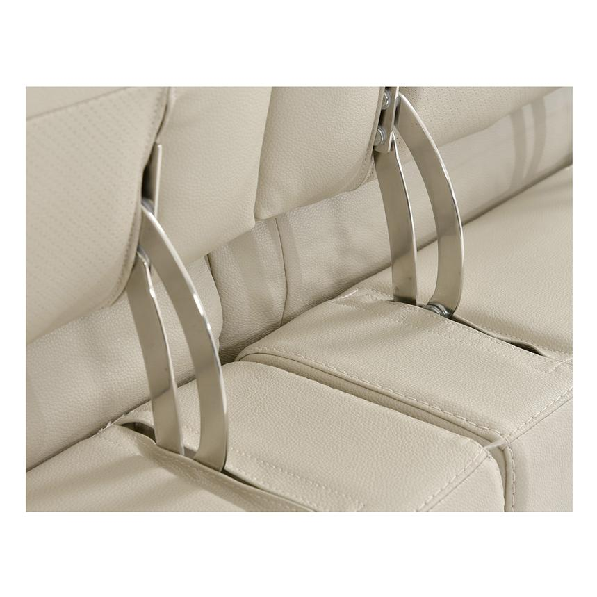 Anabel Cream Leather Power Reclining Loveseat  alternate image, 9 of 11 images.
