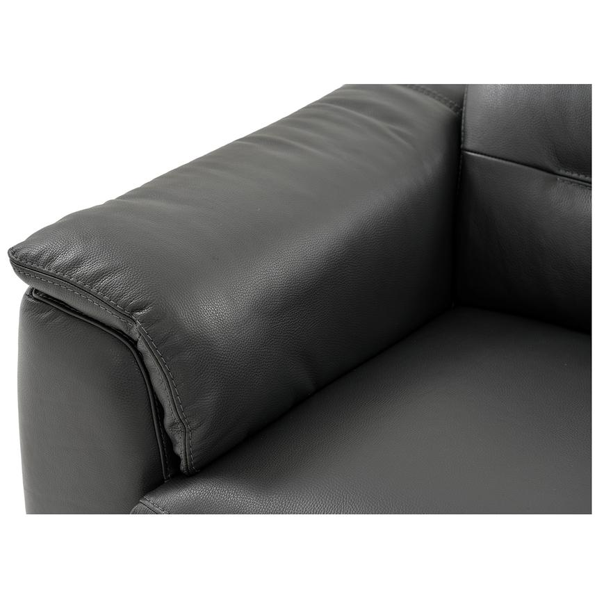 Anabel Gray Power Motion Leather Loveseat  alternate image, 5 of 9 images.