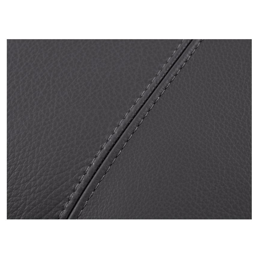 Rio Dark Gray Leather Ottoman  alternate image, 4 of 5 images.