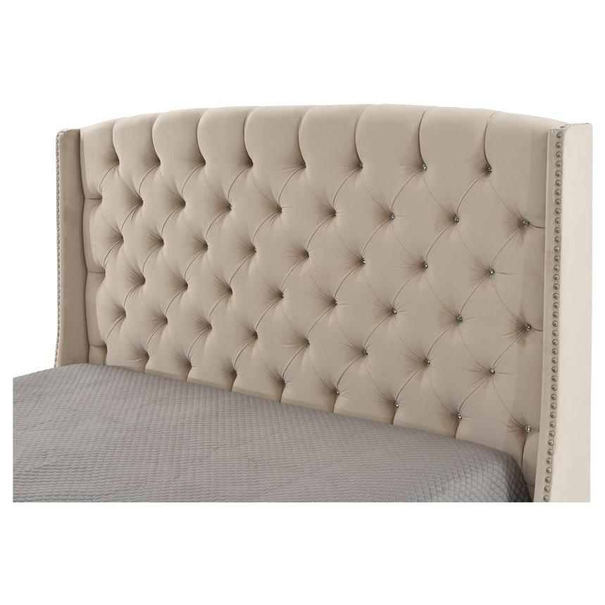 Majestic Beige Queen Platform Bed  alternate image, 4 of 6 images.