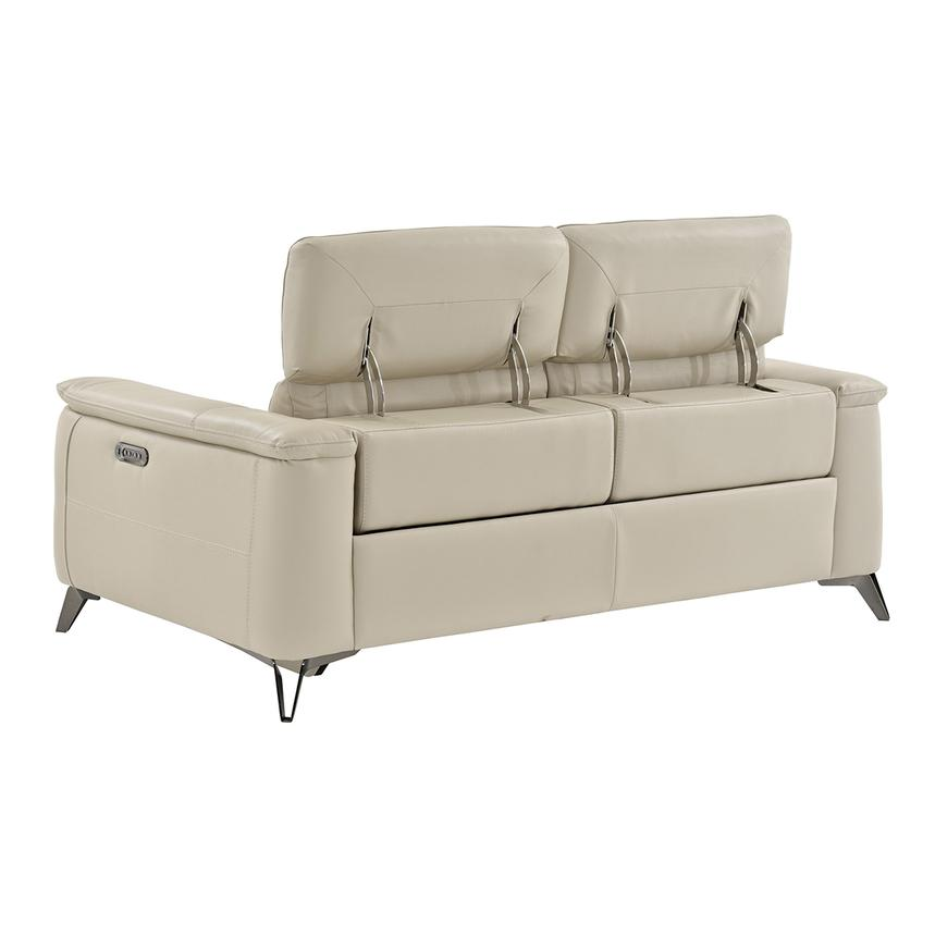 Anabel Cream Power Motion Leather Sofa  alternate image, 4 of 11 images.