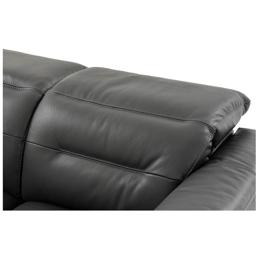 Anabel Gray Leather Power Reclining Sofa  alternate image, 10 of 15 images.