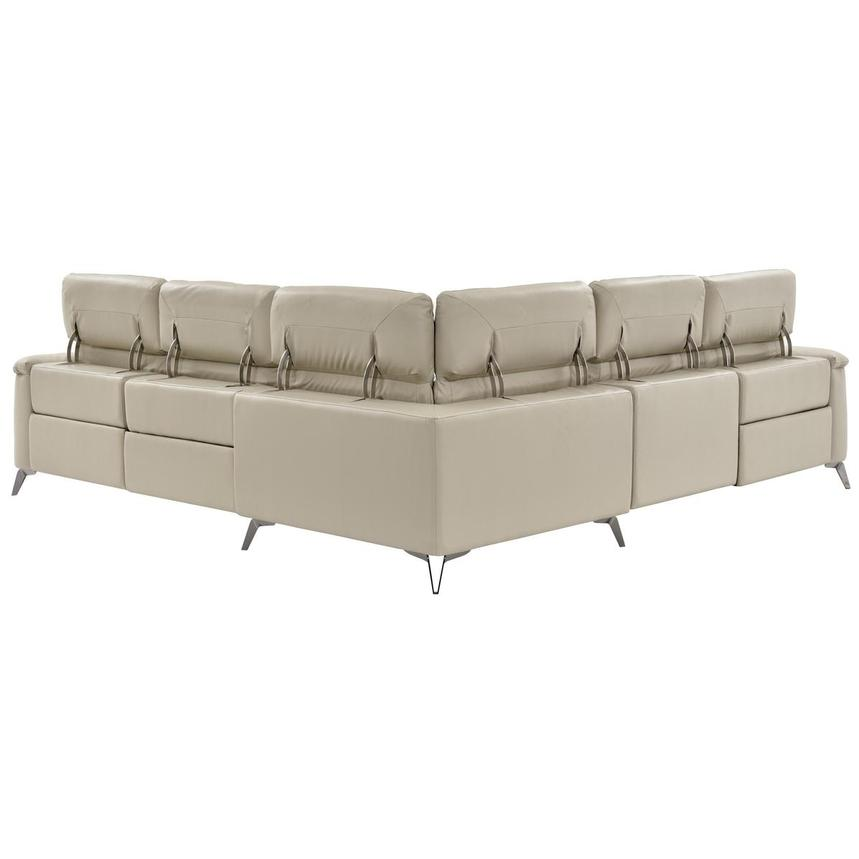 Anabel Cream Power Motion Leather Sofa w/Right & Left Recliners  alternate image, 4 of 12 images.
