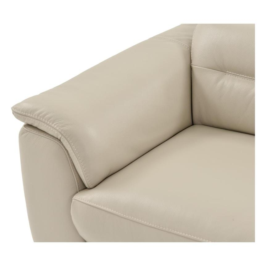 Anabel Cream Leather Power Reclining Sectional  alternate image, 9 of 16 images.