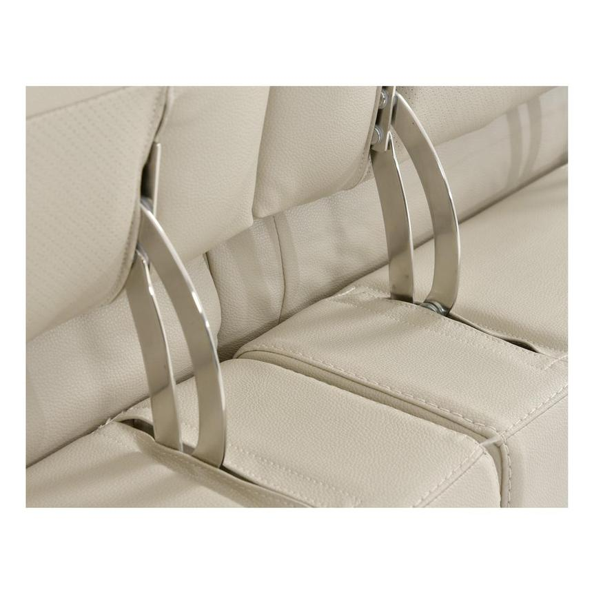 Anabel Cream Leather Power Reclining Sectional  alternate image, 14 of 16 images.