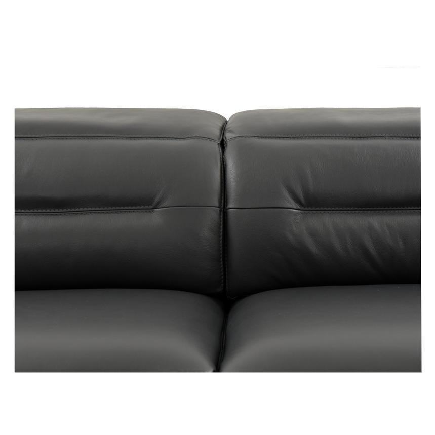 Anabel Gray Leather Power Reclining Sectional  alternate image, 8 of 15 images.