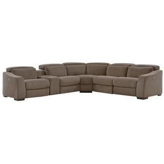Augusto Chocolate Power Motion Sofa W Right Amp Left