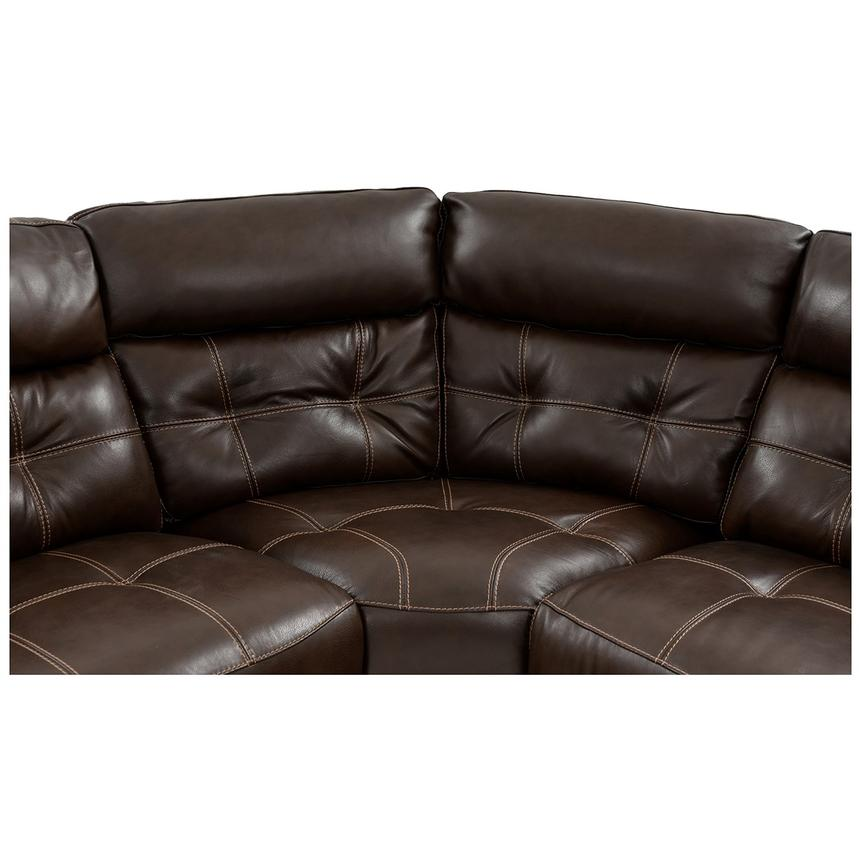 Stallion Brown Leather Power Reclining Sectional  alternate image, 4 of 10 images.