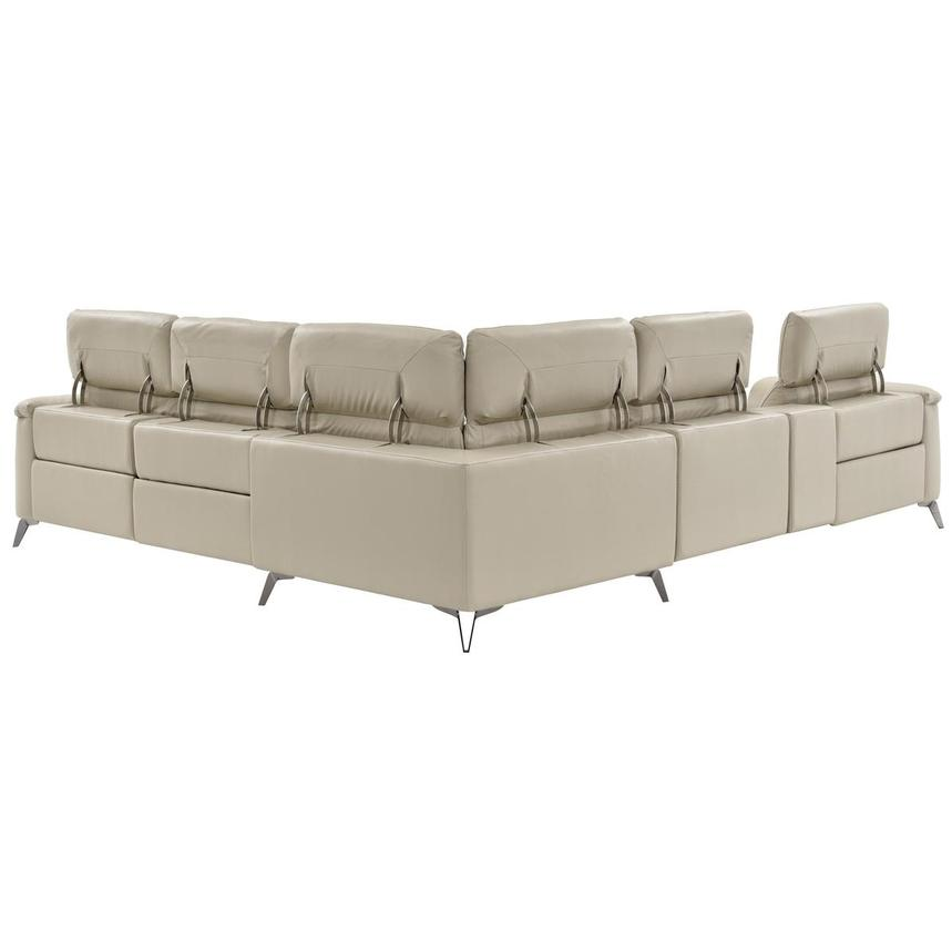Anabel Cream Power Motion Leather Sofa w/Right & Left Recliners  alternate image, 4 of 14 images.
