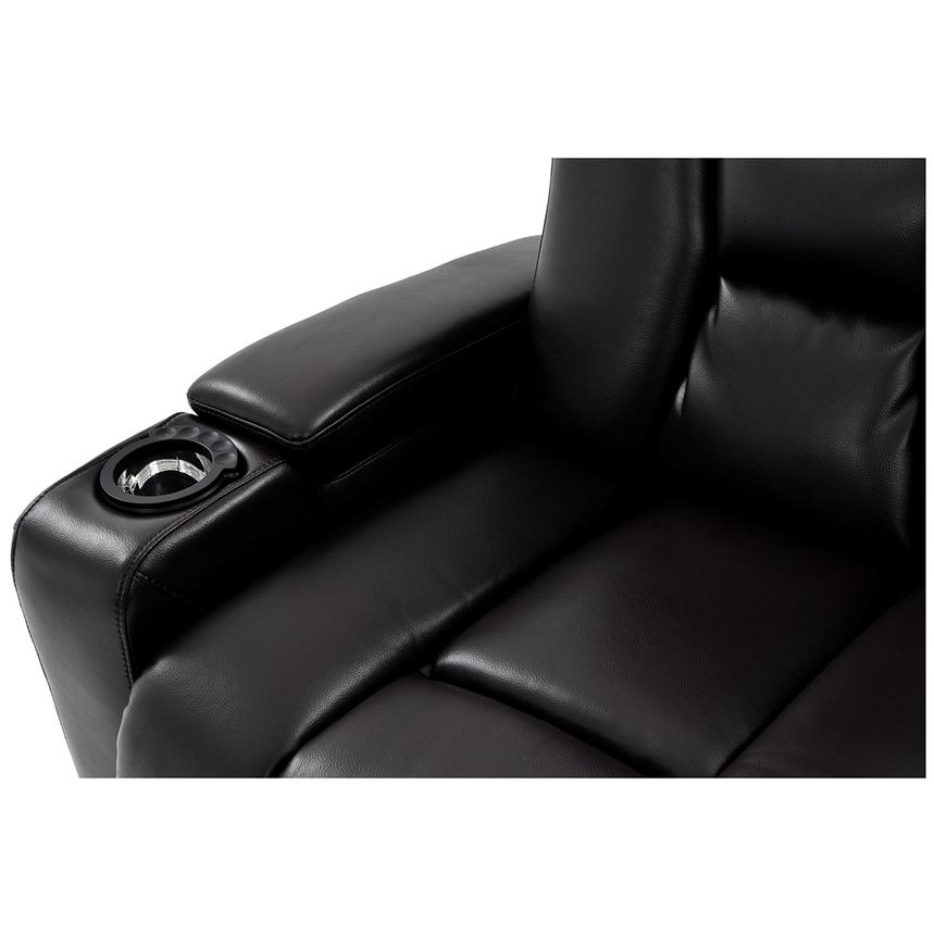 Transformer II Black Power Motion Sofa w/Console  alternate image, 9 of 10 images.