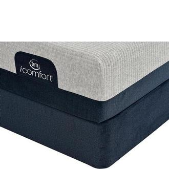 iComfort Blue 300 Queen Mattress w/Low Foundation by Serta