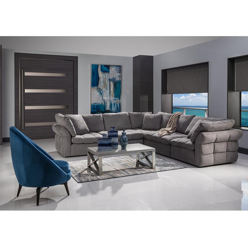 Francine Gray Sectional Sofa El, El Dorado Furniture Hialeah