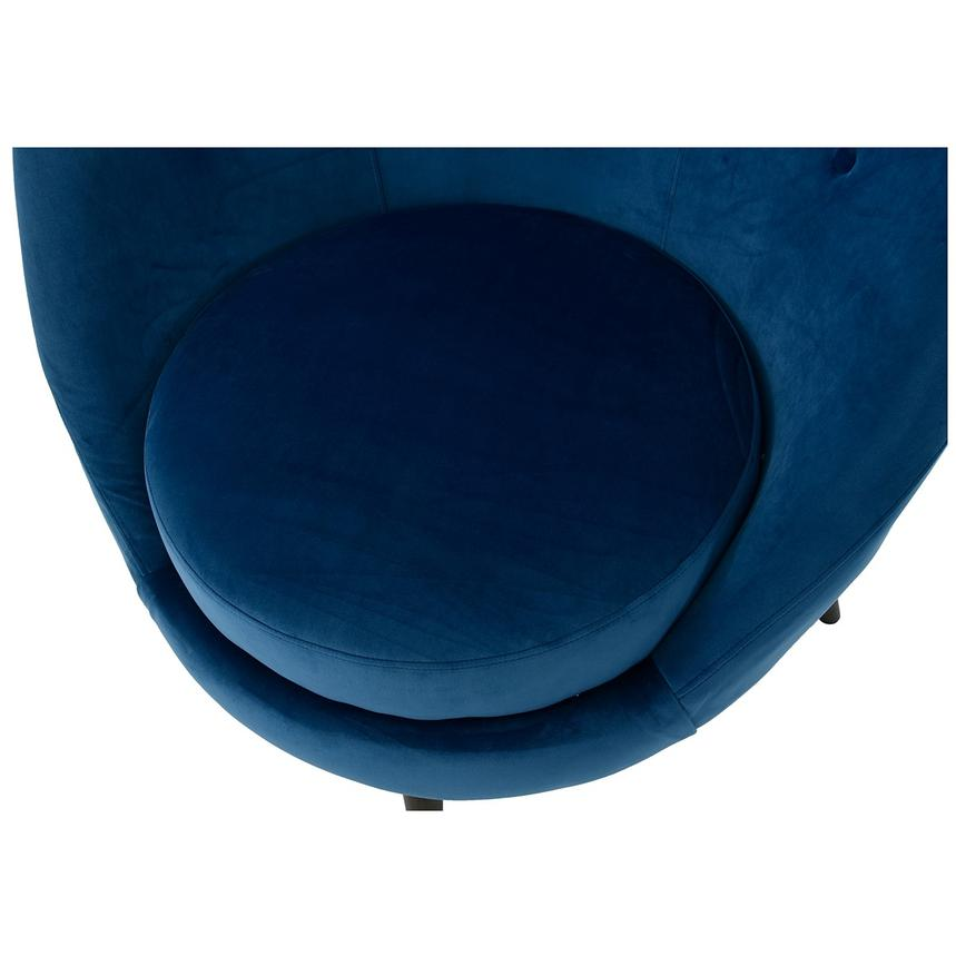 Rosa Blue Swivel Accent Chair  alternate image, 5 of 7 images.