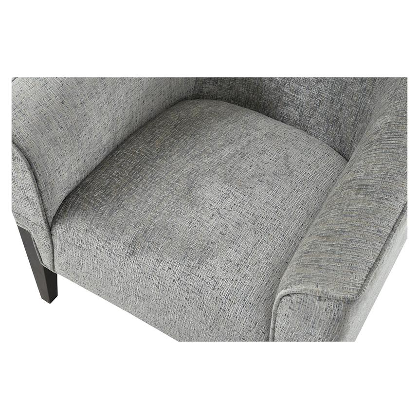 Sabine Gray Accent Chair w/Ottoman  alternate image, 5 of 10 images.