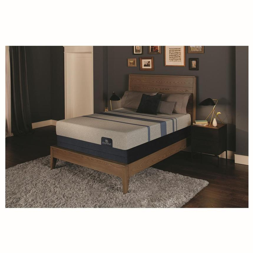 iComfort Blue Max 1000 Plush Queen Mattress w/Low Foundation by Serta  alternate image, 2 of 4 images.