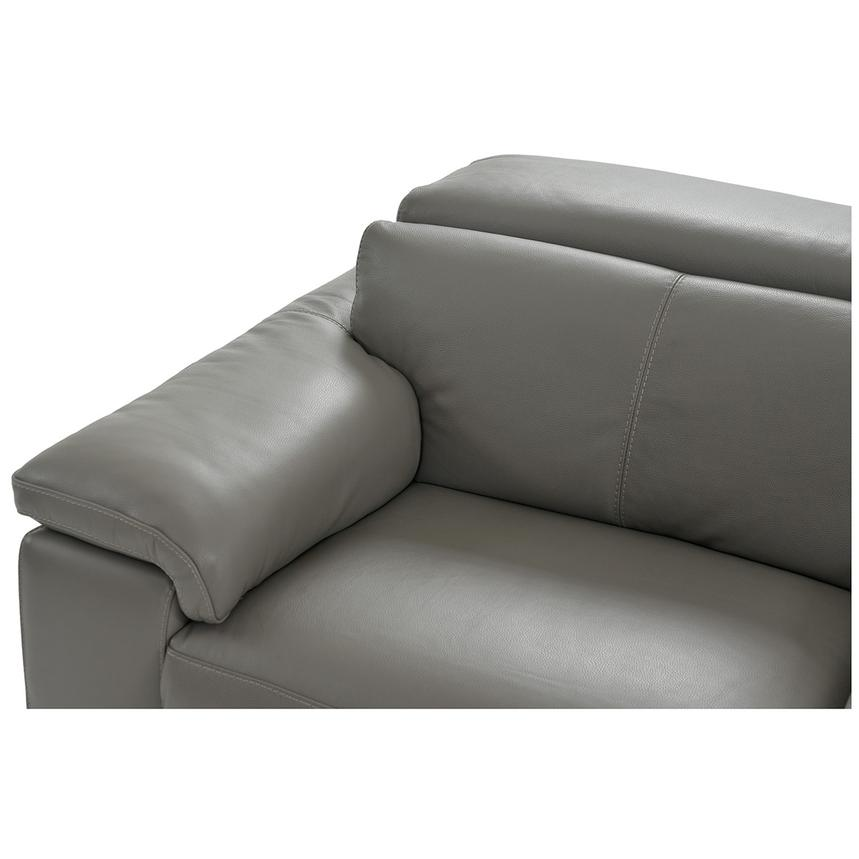 Charlie Gray Power Motion Leather Sofa w/Right & Left Recliners  alternate image, 4 of 10 images.
