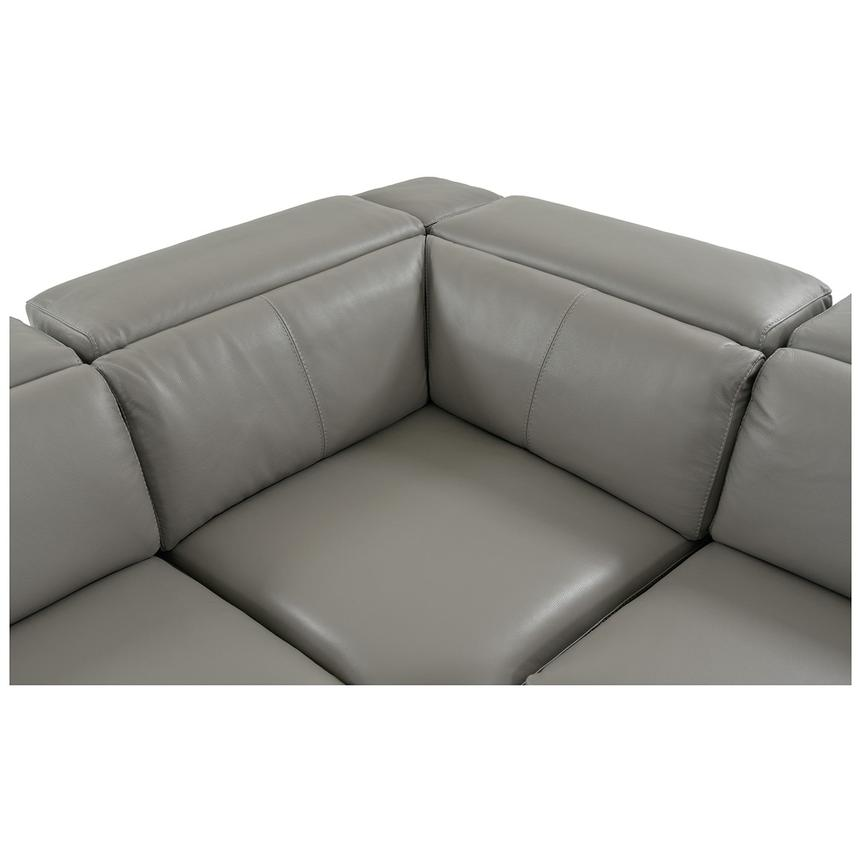 Charlie Gray Leather Power Reclining Sectional  alternate image, 6 of 13 images.
