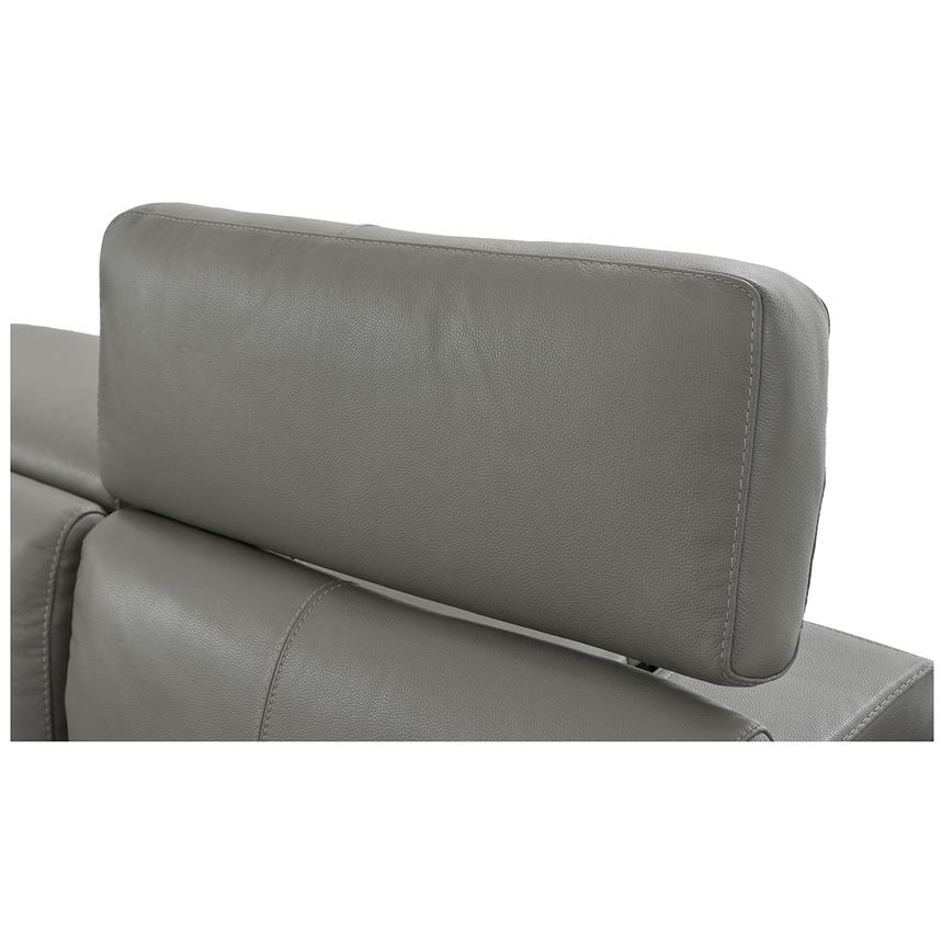 Charlie Gray Leather Power Reclining Sectional  alternate image, 9 of 12 images.
