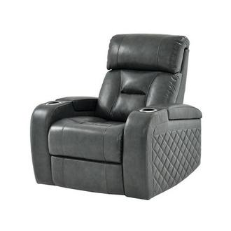 Gio Gray Power Motion Leather Recliner