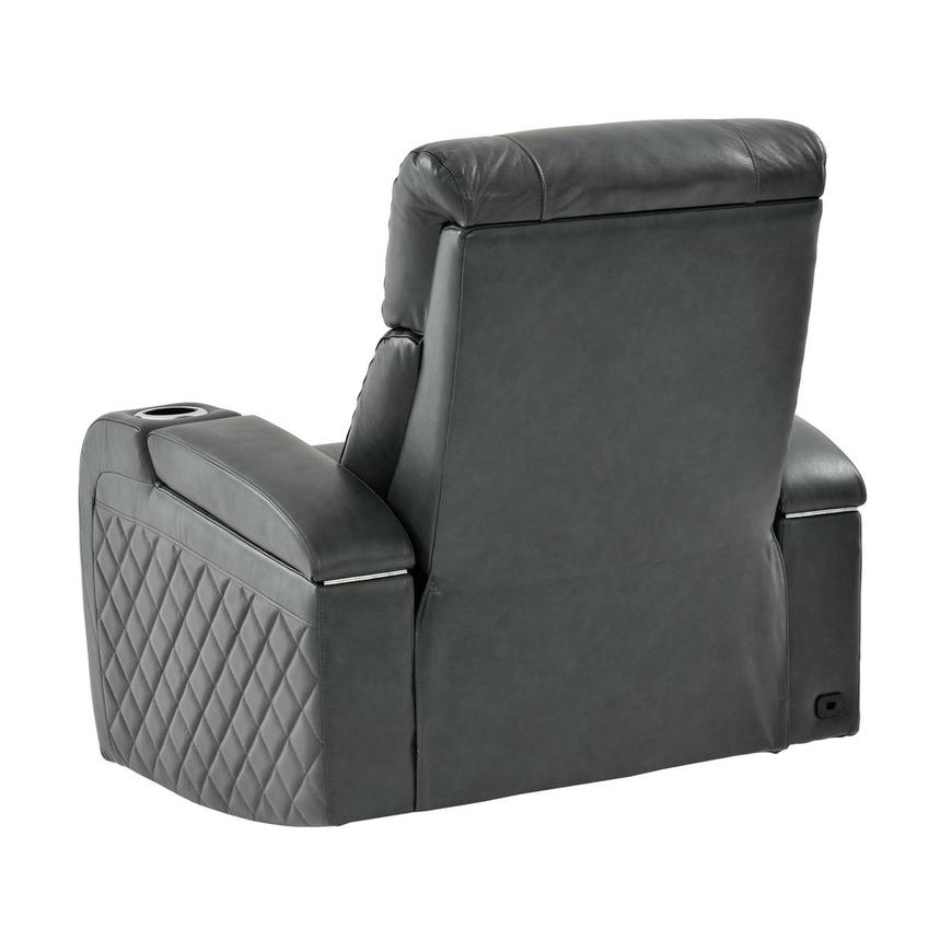 Gio Gray Leather Power Recliner  alternate image, 5 of 14 images.