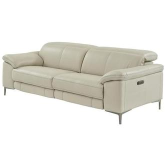 Tron Gray Power Motion Leather Sofa